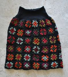 Handmade by Carolyn: Crocheted Granny-squares skirt