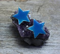 Glow Stars barrettes by EarthlyCreature on Etsy