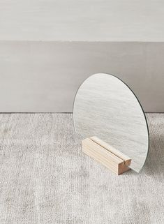 A bright and simple mirror suited for every interior. The half moon shape gives it an organic and harmonious feel – a beautiful accessory that effortlessly blends with most modern interiors. Custom Made Furniture, Furniture Making, Moon Mirror, Standing Mirror, Moon Shapes, Modern Interiors, Wood Glass, Solid Oak, Southeast Asia
