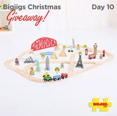 Big Jig Toys - Around the World Train Set Small World Play, Train Set, Miniature Houses, Christmas Toys, Wood Toys, Toddler Activities, Kids Toys, Famous Landmarks, Famous Places