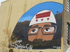 mural on the side of the Fringe building at 607 New York Ave, NW