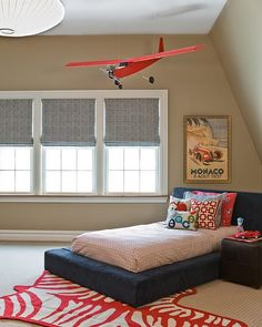 Would love a big plane above linc's bed...wonder where I would get one?!
