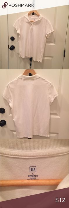 Gap Polo White Gap Polo shirt, Size Large. 95% Cotton 5% Spandex. Smoke Free Home. GAP Tops