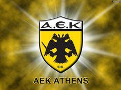 AEK Athens of Greece wallpaper. Greece Wallpaper, Eagle Wallpaper, Double Headed Eagle, Football Wallpaper, Ferrari Logo, Ancient History, Football Team, Athens, Superhero Logos