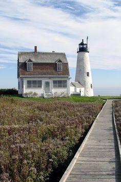Wood Island Lighthouse. Biddeford Pool, Maine.