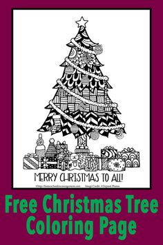 Christmas Coloring Pages - A Christmas Tree Coloring Page for FREE!