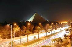 Pyramids at night, Giza, Egypt