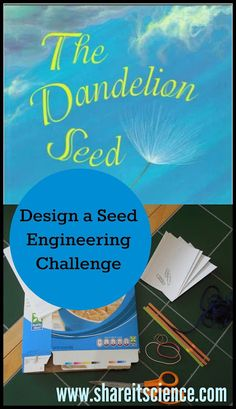 Share it! Science News : The Dandelion Seed: Design A Seed Engineering Challenge. Challenge students or your children to create the best seed design for floating, flying and sticking. Inspired by fiction and non-fiction picture books. Science Activities For Kids, Science News, Teaching Science, Life Science, Learning Activities, Weird Science, Science Fun, Science Experiments, Plant Science