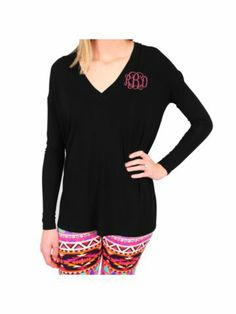 Piko Black Knit V-Neck Top