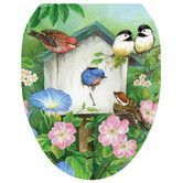 Found it at Wayfair - Blooming Birdhouse Toilet Seat Decal
