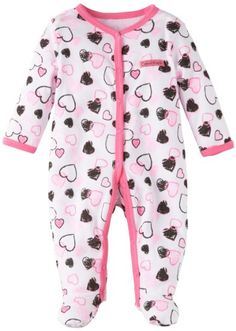 Amazon.com: Calvin Klein Baby-girls Newborn Stretchie Coverall: Clothing