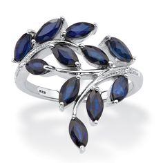 Leaf Jewelry, Emerald Jewelry, Fine Jewelry, Jewellery, Sapphire Stone, Blue Sapphire, Sterling Silver Jewelry, 925 Silver, Tanzanite Ring