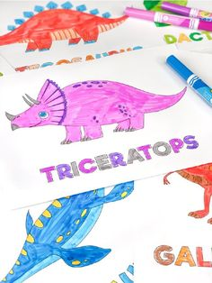 Printable Dinosaur Coloring Pages For Kids Space Coloring Pages, Coloring Pages For Boys, Disney Coloring Pages, Free Coloring, Colouring, Dinosaur Coloring Sheets, Unicorn Coloring Pages, Creative Activities For Kids, Diy For Kids