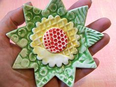 clay texture flower  need some cookie cutters!