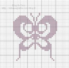 Butterfly hama perler beads pattern