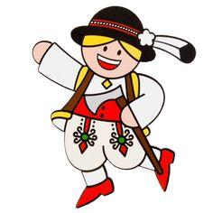 Folk magnet on fridge Highlander - traditional folk costume. Folk fridge magnet - Highlander in a folk costume. Folklore, Folk Costume, Costumes, Magnet Drawing, Polish Folk Art, African Crafts, Small Gifts, Vivid Colors, Decoration