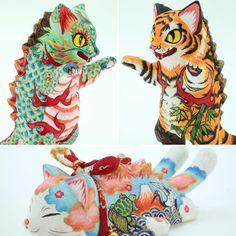 @konatsuyaのInstagram写真をチェック • いいね!519件 Japanese Toys, Vintage Japanese, Japanese Art, Big Girl Toys, Cat Doll, Vinyl Toys, Designer Toys, Cute Creatures, Animal Sculptures
