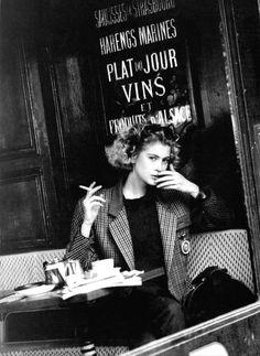 "80s-90s-supermodels:  ""Matisse"", Vogue Italia, September 1988Photographer : Marco TassinariModel : Emma Warg"