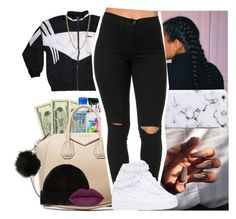"""""""Tumblr baddie outfit #1"""" by msixo ❤ liked on Polyvore featuring adidas, Loren Stewart, Givenchy and NIKE"""