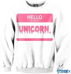 Unicorn Crewneck - Fresh-tops.com