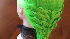 Причёска из петелек