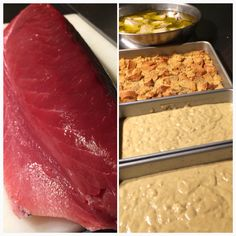 Back @ The Lab @hiblend  Fresh Ahi Prep Oven Baked Ahi Sandwich  Ahi Tartare Ahi Poke  Local Banana Bread Local Bread Pudding  Prepared with local, organic, non GMO & all natural ingredients #mealprep #bakedgoods #breadpudding #bananabread #ahi #tuna #poke #tartare #ahipoke #madeinhawaii #local #allnatural #nongmo #organic #nonprocessed #nopreservatives #hiblend #fitnessmeal #cleaneats #healthyliving #cleanliving #fitfood #realfood #prepwork #baking #cafelife #supportlocal #madefresh #foodie