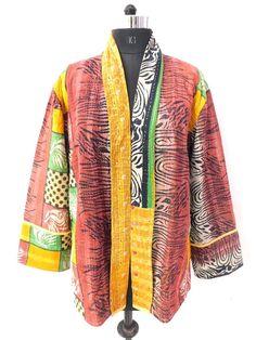 8a447b56304 Indian women wear cotton kantha jacket patchwork overcoat vintage blazer 17   fashion  clothing