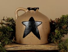 Check out the deal on Wide Star Jug at Primitive Home Decors Primitive Bathrooms, Primitive Homes, Primitive Kitchen, Country Primitive, Country Kitchen, Prim Decor, Primitive Decor, Plant Decor, Home Decor Items