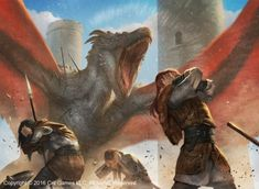 Deafened by ameeeeba on DeviantArt Fantasy Dragon, Dragon Art, Fantasy World, Dark Fantasy, Fantasy Creatures, Mythical Creatures, Medieval, Game Of Thrones Art, Fantasy Island