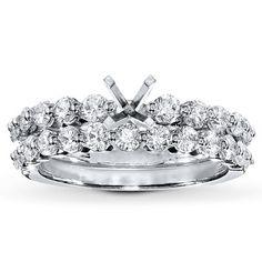 Diamond Bridal Setting 1 1/6 ct tw Round-cut 14K White Gold