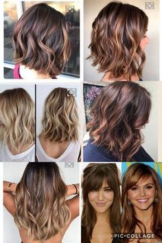 48 ideas for hair bangs balayage cut and color Hair Color Balayage, Ombre Hair, Medium Hair Styles, Curly Hair Styles, Hair Highlights And Lowlights, Bright Hair Colors, Pinterest Hair, Hairstyles With Bangs, Hair Dos