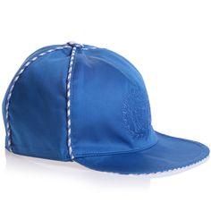 46ed4703176 YOUNG VERSACE - Boys Blue Cotton Cap with Versace Medusa Logo - Boy