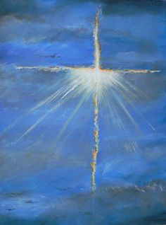 Jesus Cross In The Sky Painting  - Jesus Cross In The Sky Fine Art Print