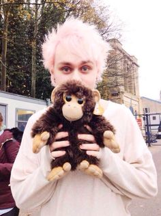 """[FC: Michael Clifford] """"Heeeeello there! My name's Michael and I'm 18. I have a twin sister named Alex, who I'm older than. I'm also very protective of her, so hurt her and you're dead. Anyway, I like singing, playing guitar, puppies, and being loud. I'm generally a loud and outgoing person, but I can be quiet if I need to. Come say hi! I don't bite!"""""""