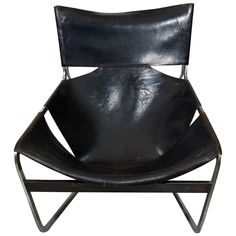 Pierre Paulin Leather F44 Lounge Chair | From a unique collection of antique and modern lounge chairs at https://www.1stdibs.com/furniture/seating/lounge-chairs/