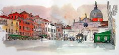 Sketches in watercolour and pencil by Fabrice Moireau Fabrice Moireau is a seasoned traveler who brings back from his journeys sketchbooks which are valuable cultural and ethnographic records in th…