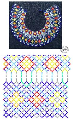 Natali Khovalko Diy Necklace Patterns, Bead Loom Patterns, Beaded Jewelry Patterns, Peyote Patterns, Beading Patterns, Native Beadwork, Handmade Beads, Beading Tutorials, Loom Beading