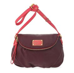Marc by Marc Jacobs Classic Q Colorblocked Natasha in Cabernet Red