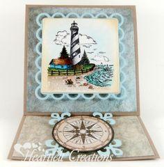 Heartfelt Creations | Lighthouse and Compass Easel Card