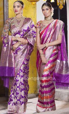 Banarsi Saree, Kanchipuram Saree, Silk Sarees, Blouse Designs Silk, Saree Blouse Patterns, Beautiful Saree, Beautiful Outfits, Pakistani Bridal Wear, Bridal Sarees