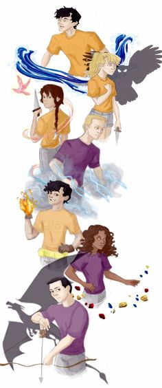 """The Heroes of Olympus...in their Element!! (Lol element THE IRONY **see my """"the elements"""" board if ur confused**"""