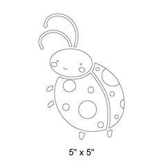 Ladybug Stencil for Girls Ladybug Room Wall Mural or Bug Theme Room