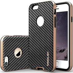 """IPhone 6 Case, Caseology [Bumper Frame] Apple iPhone 6 (4.7"""" inch) Case [Carbon Fiber Black] Slim Fit Skin Cover [Shock Absorbent] TPU Bumper iPhone 6 Case [Made in Korea] (for Apple iPhone 6 Verizon, AT&T Sprint, T-mobile, Unlocked). Carbon Leather Bumper (b00mq8kta0) • Iphone 6 Case. Sheer Grip (b00l9jxmfq) • Iphone 6 Case. Polycarbonate TPU bumper iPhone 6 case for protection at every angle. Mesh Leather Bumper (b00mq8kp7m) • Iphone 6 Case. Raised Lip iPhone 6 case for full..."""