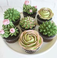 #cupcakes #succulents #bake #party #babyshowerideas