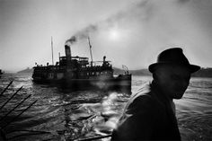 A steamer in Istanbul by Ara Guler