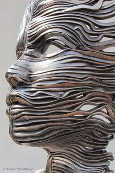 """We all become what we pretend to be."" ― Patrick Rothfuss sculpture 22 Creative Human Figure Metal Sculptures Composed of Unraveling Steel Ribbons by Gil Bruvel Metal Tree Wall Art, Metal Art, Sculpture Metal, Art Sculptures, Ribbon Sculpture, Human Sculpture, Sculpture Garden, Sculpture Projects, Sculpture Ideas"
