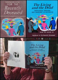 The Living and the Dead.  Handbook for the Recently Deceased. Book cover?  Invitations? Halloween with Tim Burton ~~ Halloween Party Decorations & Ideas