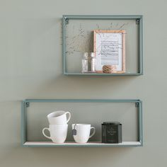 "In stores now // ""Place an elegant frame around your favourite items,"" suggests Anna. Decorative shelves, available in two colours and four sizes, price per item from DKK 98,80 / EUR 13,90 / ISK 2274 / NOK 144,00 / GBP 13,80 / SEK 139,00 / CHF 17,59 / FO-DKK 98,80  .  .  #shelf #shelves #interiors #homeandinteriors #homedecor #homedecorating #interiorsideas #interiorstyling #sostrenegrene #søstrenegrene #grenehome"