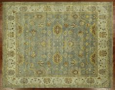 New Veg Dyed Floral Design Oushak Hand Knotted Wool Baby Blue 8' X 10' Rug H5405 #Manhattanrugs #TraditionalPersianOriental $1360, made where?