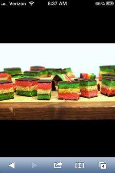 Rainbow cookies!!!